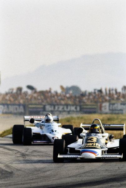 Dave Scott, March 832 BMW/Rosche, leads Fulvio Ballabio, AGS JH19 BMW/Mader.