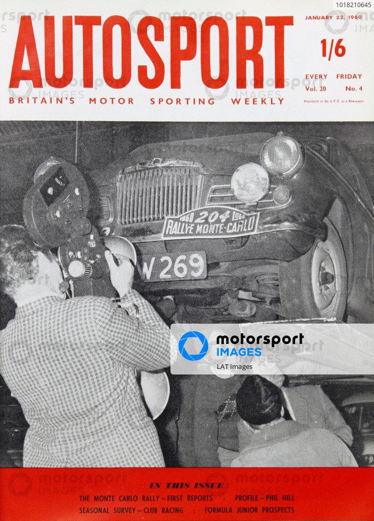 Cover of Autosport magazine, 22nd January 1960