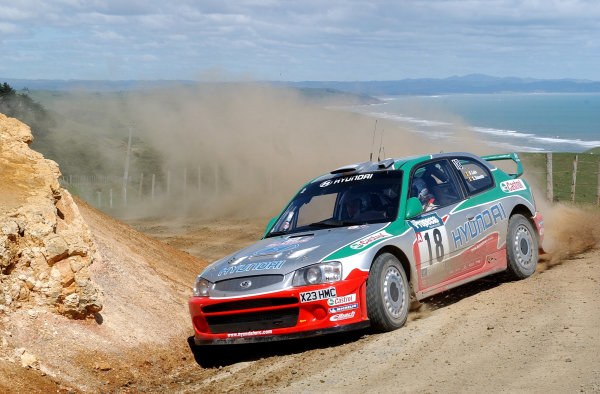 2002 World Rally Championship.Propecia Rally of New Zealand, Auckland, October 3rd-6th.Freddy Loix on stage 4, Whaanga coast.Photo: Ralph Hardwick/LAT
