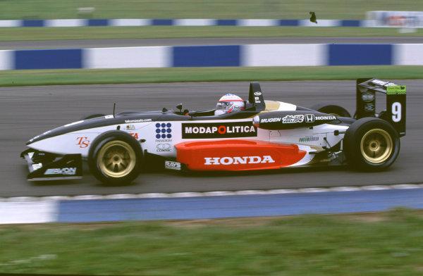 2000 British Formula Three Donington, England. 1st - 2nd July 2000. Rd 7&8. Takuma Sato - action. World - Peter Spinney/ LAT Photographic