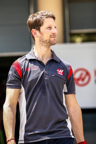 Bahrain International Circuit, Sakhir, Bahrain.  Thursday 13 April 2017. Romain Grosjean, Haas F1. World Copyright: Andy Hone/LAT Images ref: Digital Image _ONZ6625