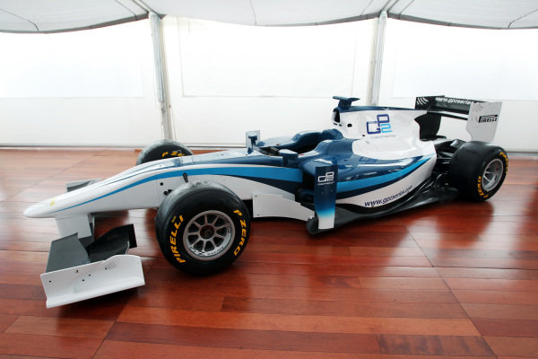 The 2011 GP2 Series car is unveiled with Pirelli supporting the series. GP2 Series, Rd9, Monza, Italy, Thursday 9 September 2010.