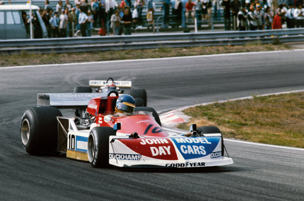 Zandvoort, Holland. 27 - 29 August 1976.Ronnie Peterson (March 761-Ford), retired, action. World Copyright: LAT Photographic. Ref: 76HOL15
