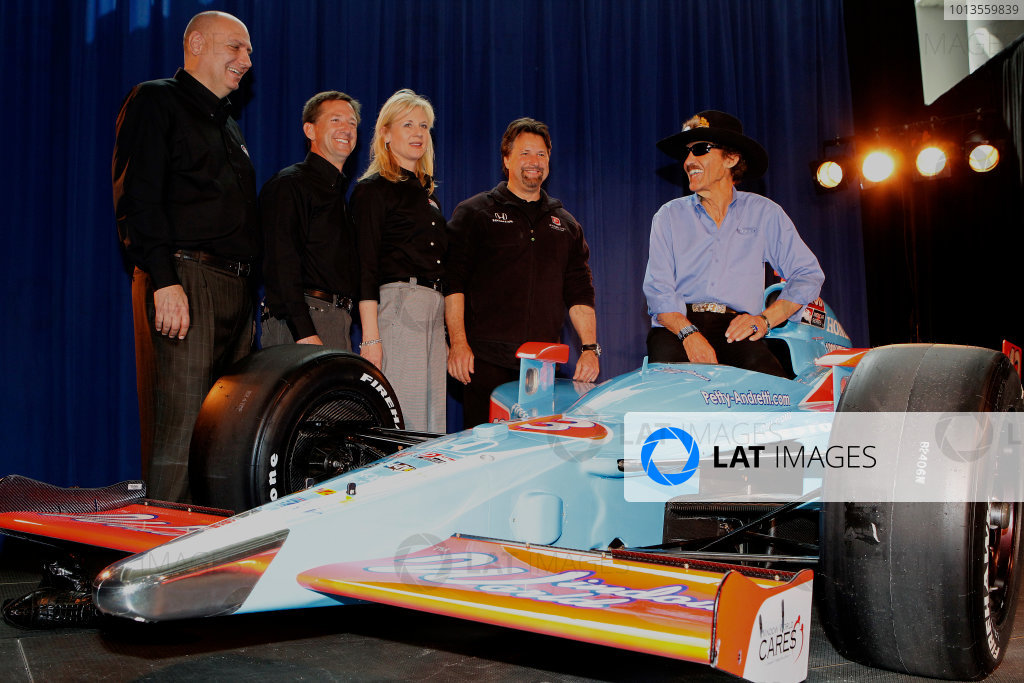 14-15 March, 2011 Birmingham, Alabama, USAAndretti Autosport unveils the Window World sponsored car that John Andretti will drive in the 2011 Indianapolis 500. On hand are Michael Andretti, John Andretti, Richard Petty and guests from Window World.© 2011 Phillip AbbottLAT Photo USA