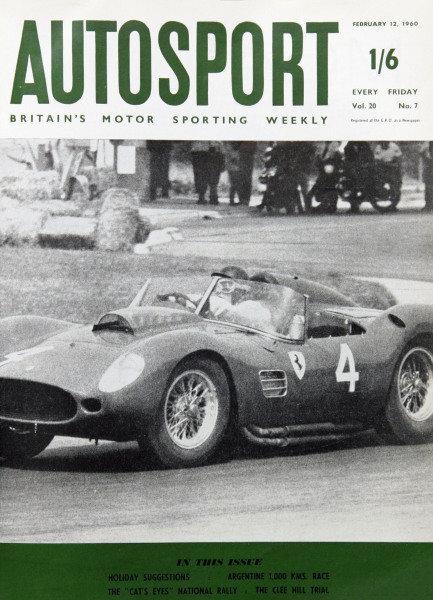 Cover of Autosport magazine, 12th February 1960