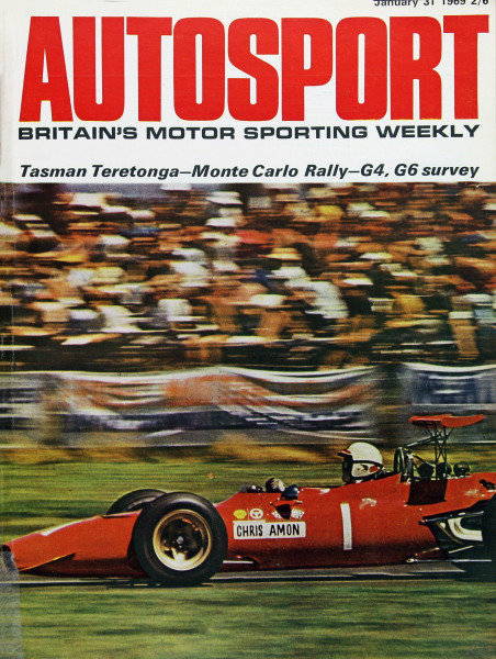 Cover of Autosport magazine, 31st January 1969