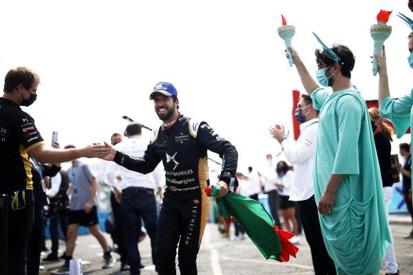 Antonio Felix da Costa (PRT), DS Techeetah, 3rd position, heads to the podium