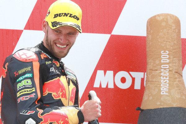 Podium: second place Brad Binder, KTM Ajo.
