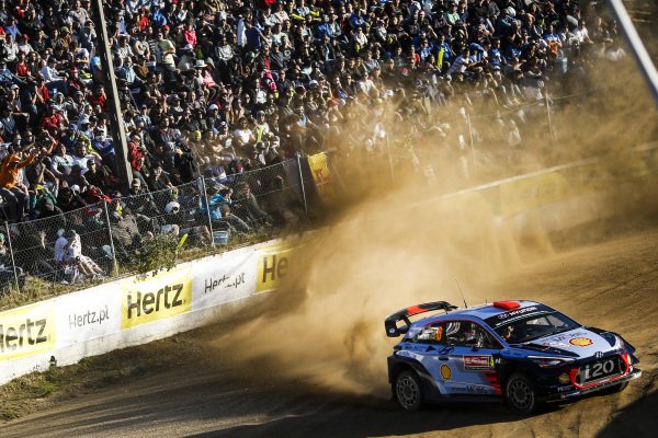 Dani Sordo (ESP) / Marc Marti (ESP), Hyundai Motorsport i20 Coupe WRC vat World Rally Championship, Rd6, Rally Portugal, Day One, Matosinhos, Portugal, 19 May 2017.