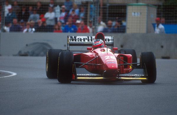 1994 Australian Grand Prix.Adelaide, Australia.11-13 November 1994.Gerhard Berger (Ferrari 412T1B) 2nd position.Ref-94 AUS 16.World Copyright - LAT Photographic