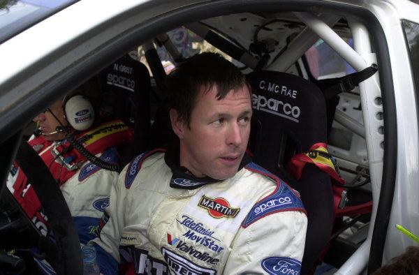 2001 World Rally Championship. ArgentinaMay 3rd-6th, 2001Colin McRae during service at Mina Clavero.Photo: Ralph Hardwick/LAT