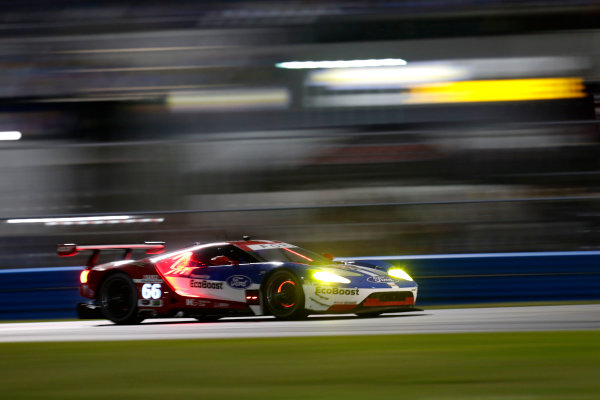 2017 Rolex 24 Hours. Daytona, Florida, USA Thursday 26 January 2017. #66 Ford Performance Chip Ganassi Racing Ford GT: Joey Hand, Dirk M?ller, S?bastien Bourdais World Copyright: Alexander Trienitz/LAT Images ref: Digital Image 2017-24h-Daytona-AT1-1207