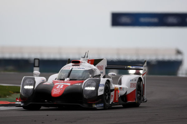 2017 World Endurance Championship, Silverstone, UK. 14th-16th April 2017, Sebastien Buemi / Anthony Davidson / Kazuki Nakajima Toyota Gazoo Racing Toyota TS050 Hybrid World Copyright. JEP/LAT Photographic