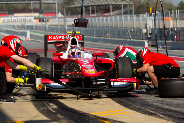 Circuit de Barcelona Catalunya, Barcelona, Spain. Wednesday 15 March 2017. Antonio Fuoco (ITA, PREMA Racing). Action.  Photo: Alastair Staley/FIA Formula 2 ref: Digital Image 585A0130