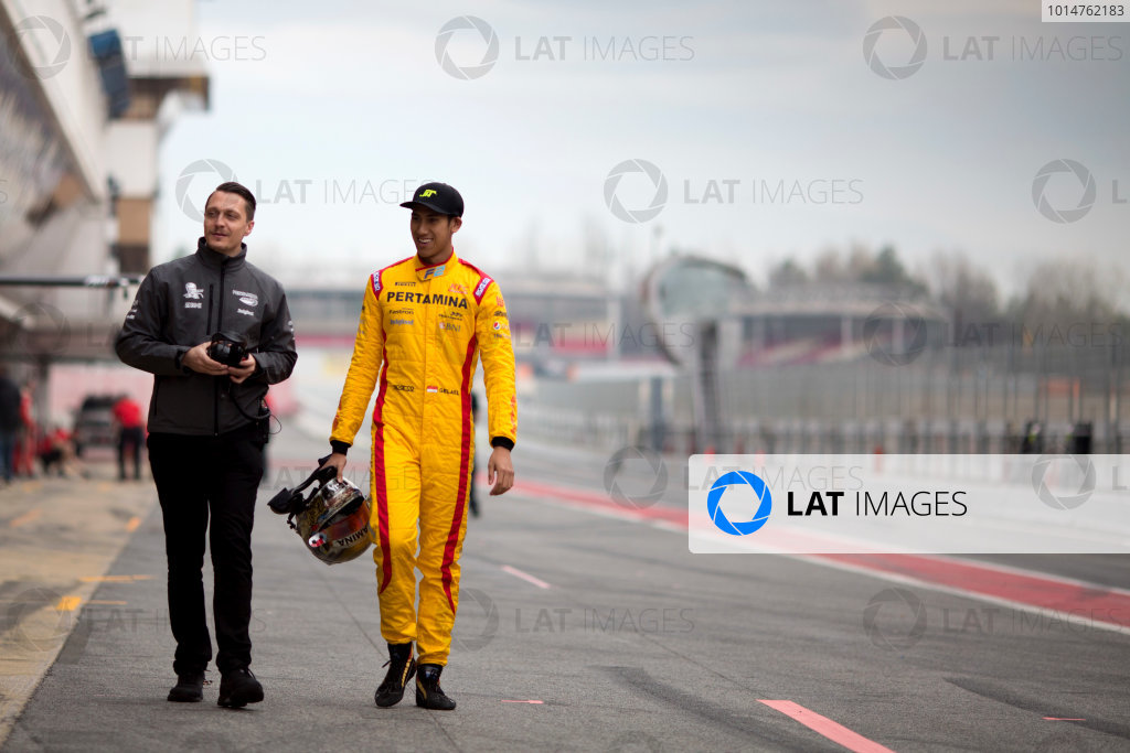 Circuit de Barcelona Catalunya, Barcelona, Spain. Monday 13 March 2017. Sean Gelael (INA, Pertamina Arden). Photo: Alastair Staley/FIA Formula 2 ref: Digital Image 580A9211