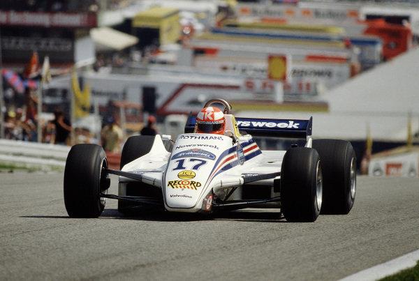1982 Austrian Grand Prix.Osterreichring, Zeltweg, Austria.13-15 August 1982.Rupert Keegan (March 821 Ford).Ref-82 AUT 46.World Copyright - LAT Photographic