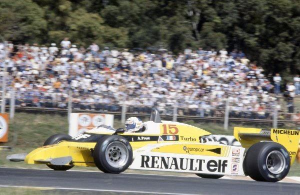 1981 Argentinian Grand Prix.Buenos Aires, Argentina. 10-12 April 1981.Alain Prost (Renault RE20), 3rd position.World Copyright: LAT PhotographicRef: 35mm transparency 81ARG06