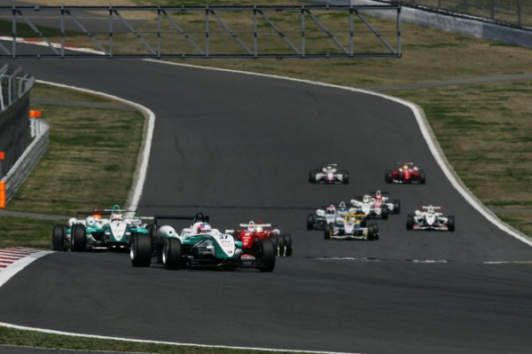 2008 Japanese Formula Three ChampionshipFuji Speedway, Japan. Rounds 1 & 25th - 6th April 2008.Round 2 - Start of the race.World Copyright: Yasushi Ishihara / LAT Photographicref: Digital image 2008JF3_Rd2_001