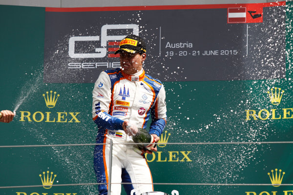 2015 GP3 Series Round 2. Red Bull Ring, Spielberg, Austria. Sunday 21 June 2015. Oscar Tunjo (COL, Trident)  Photo:  Sam Bloxham/GP3 Media Service ref: Digital Image _G7C5929