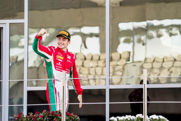 2017 FIA Formula 2 Round 11. Yas Marina Circuit, Abu Dhabi, United Arab Emirates. Sunday 26 November 2017. Charles Leclerc (MCO, PREMA Racing).  Photo: Zak Mauger/FIA Formula 2. ref: Digital Image _56I2481