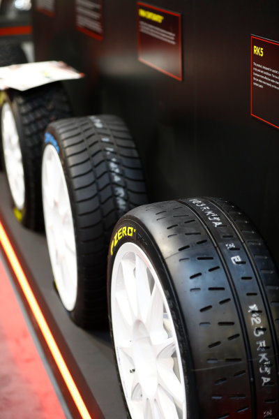 Autosport International Exhibition. National Exhibition Centre, Birmingham, UK. Sunday 14th January 2018. The Pirelli stand.World Copyright: Ashleigh Hartwell/LAT Images Ref: _R3I9662