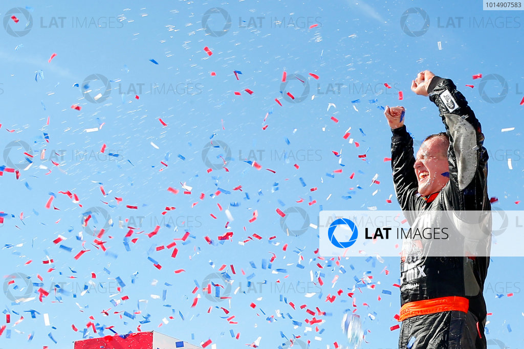 NASCAR XFINITY Series U.S. Cellular 250 Iowa Speedway, Newton, IA USA Saturday 29 July 2017 Ryan Preece, MoHawk Northeast Inc. Toyota Camry celebrates in victory lane  World Copyright: Russell LaBounty LAT Images
