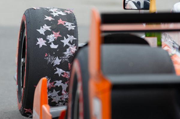 Verizon IndyCar Series Kohler Grand Prix Road America, Elkhart Lake, WI USA Sunday 25 June 2017 Josef Newgarden, Team Penske Chevrolet car after podium celebration World Copyright: Geoffrey M. Miller LAT Images