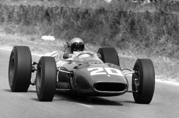 1966 French Grand Prix.Reims, France. 3 July 1966.Lorenzo Bandini, Ferrari 312, not classified, action.World Copyright: LAT Photographic
