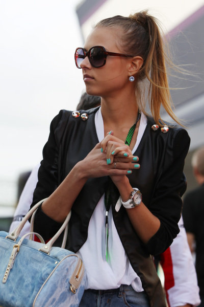 Dasha Kapustina (RUS), girlfriend of Fernando Alonso (ESP) Ferrari. Formula One World Championship, Rd5, Spanish Grand Prix, Qualifying, Barcelona, Spain, Saturday 11 May 2013.