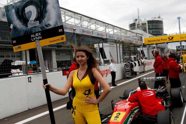 Round 7 - Nurburgring, Germany 16th - 18th August 2013  Gridgirl of Alex Lynn (GBR) PREMA POWERTEAM Dallara F312 Mercedes World Copyright: XPB Images / LAT Photographic  ref: Digital Image 2780090_HiRes
