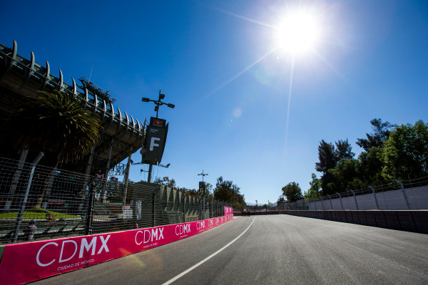 2015/2016 FIA Formula E Championship. Mexico City ePrix, Autodromo Hermanos Rodriguez, Mexico City, Mexico. Friday 11 March 2016. A view of the track. Photo: Zak Mauger/LAT/Formula E ref: Digital Image _L0U7293