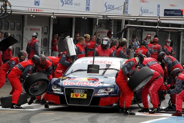 A pit stop for  Mattias Ekstrom (SWE), Audi Sport Team Abt Sportsline.