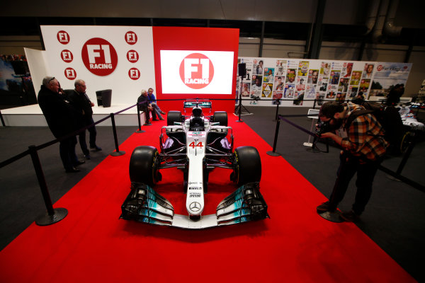 Autosport International Exhibition. National Exhibition Centre, Birmingham, UK. Thursday 11th January 2017. A Mercedes on the F1 Racing Stand. World Copyright: Joe Portlock/LAT Images Ref: _L5R9781
