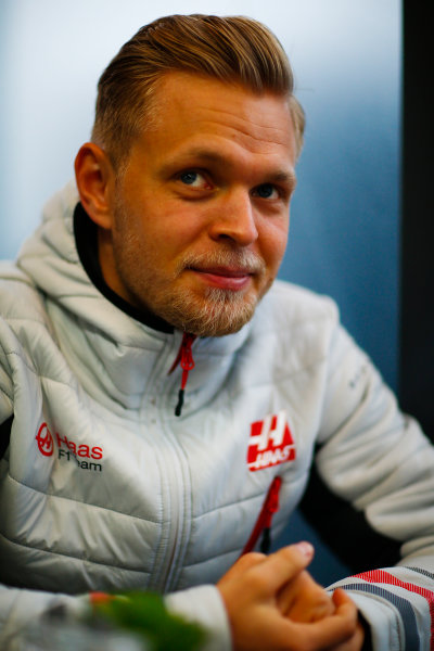 Circuit de Catalunya, Barcelona, Spain. Wednesday 28 February 2018. Kevin Magnussen, Haas F1 Team. World Copyright: Andy Hone/LAT Images ref: Digital Image _ONY9707