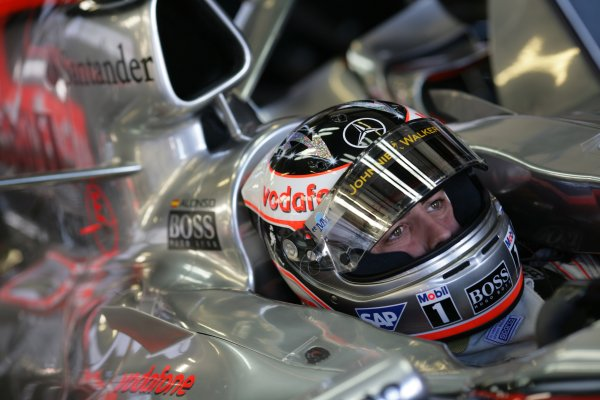 2007 British Grand Prix - Saturday QualifyingSilverstone, Northamptonshire, England.7th July 2007.Fernando Alonso, McLaren MP4-22 Mercedes. Portrait. Helmets. World Copyright: Steven Tee/LAT Photographicref: Digital Image YY2Z5499