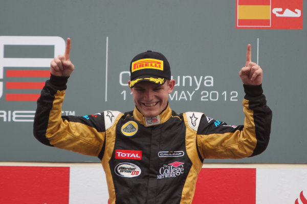 Circuit de Catalunya, Barcelona, Spain. 13th May 2012. Sunday Race. Conor Daly (USA, Lotus GP) Portrait.  Photo: Glenn Dunbar/GP3 Media Service. ref: Digital ImageCG8C4476.jpg