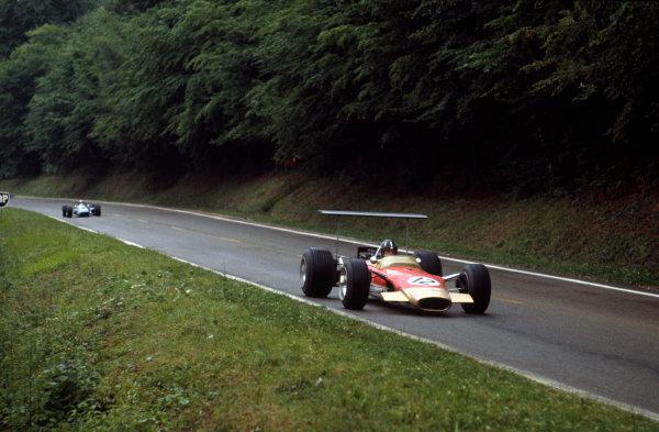 Rouen-Les-Essarts, France. 5-7 July 1968. Graham Hill (Lotus 49B Ford). Ref-68FRA02. World Copyright - LAT Photographic