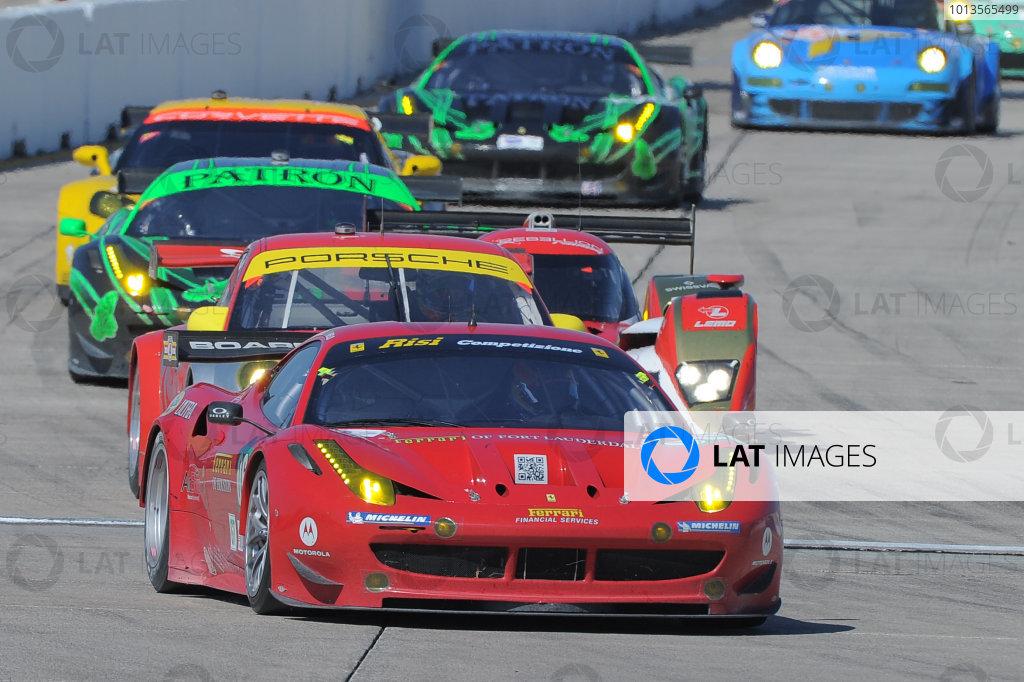14-19 March 2011. Sebring, Florida USA#062 Risi Competizione Ferrari F458 Italia©2011 Dan R. Boyd LAT Photo USA