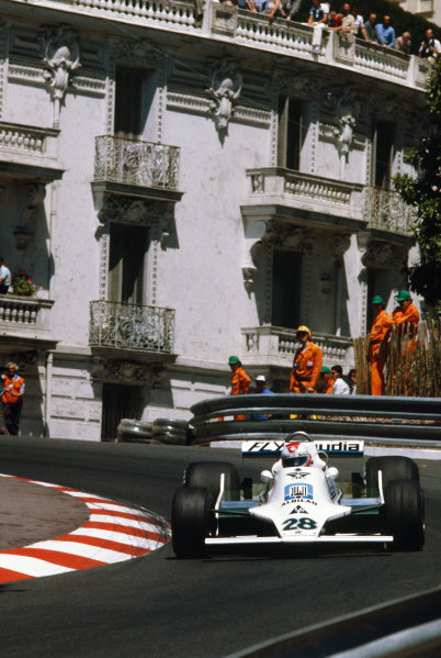 Monte Carlo, Monaco. 24-27 May 1979. Clay Regazzoni (Williams FW07-Ford), 2nd position, action.  World Copyright: LAT Photographic. Ref:  79MON