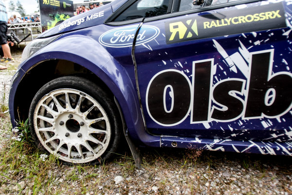2014 FIA World Rallycross Championship Round 05 H?ljes, Sweden 5th & 6th July 2014 Andreas Bakkerud, Ford, puncture Worldwide Copyright: McKlein/LAT