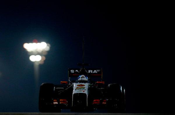 Yas Marina Circuit, Abu Dhabi, United Arab Emirates. Tuesday 25 November 2014. Jolyon Palmer, Force India VJM07 Mercedes.  World Copyright: Glenn Dunbar/LAT Photographic. ref: Digital Image _89P9727