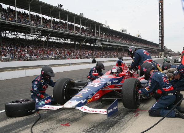26  May, 2013, Indianapolis, Indiana,  USA Marco Andretti Pit Stop.(c)2013, Maria W. Grady LAT Photo USA