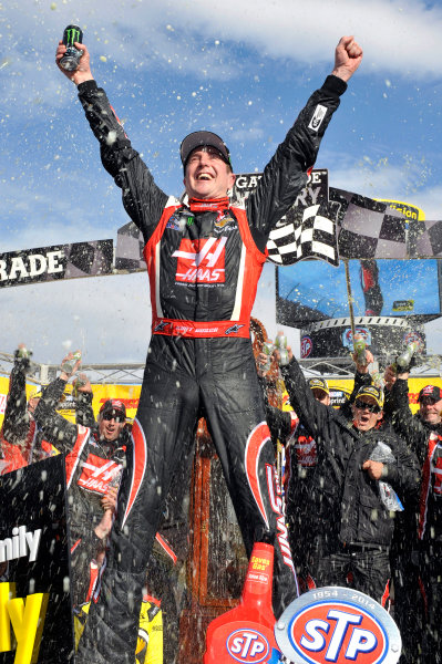 28-30 March, 2014, Martinsville, Virginia USA Kurt Busch celebrates his win in Victory Lane © 2014, Nigel Kinrade LAT Photo USA