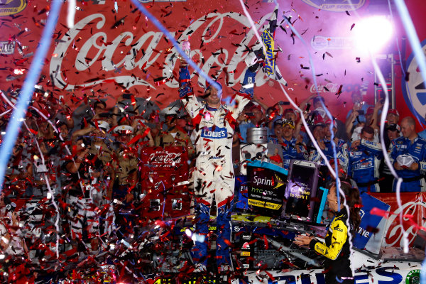 22-25 May, 2014, Concord, North Carolina, USA Jimmie Johnson celebrates in victory lane ?2014, Lesley Ann Miller LAT Photo USA