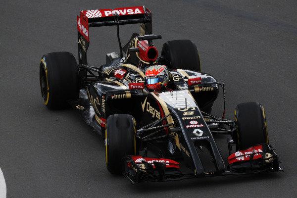 Circuit Gilles Villeneuve, Montreal, Canada. Friday 6 June 2014. Romain Grosjean, Lotus E22 Renault. World Copyright: Alastair Staley/LAT Photographic. ref: Digital Image _R6T4526
