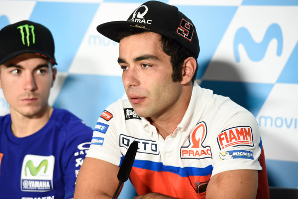2017 MotoGP Championship - Round 14 Aragon, Spain. Thursday 21 September 2017 Danilo Petrucci, Pramac Racing World Copyright: Gold and Goose / LAT Images ref: Digital Image 693419