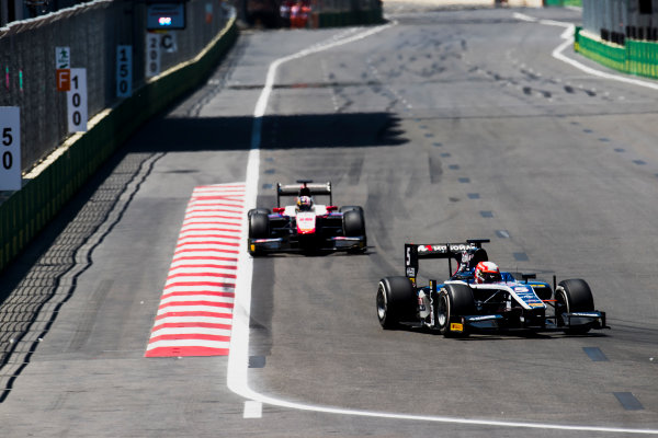 2017 FIA Formula 2 Round 4. Baku City Circuit, Baku, Azerbaijan. Saturday 24 June 2017. Luca Ghiotto (ITA, RUSSIAN TIME)  Photo: Zak Mauger/FIA Formula 2. ref: Digital Image _54I1188