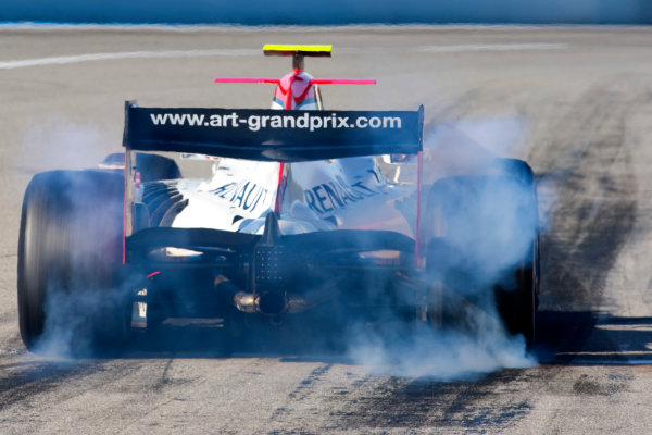 Thuesday 12th November 2009. Jules Bianchi (FRA, ART Grand Prix). Action.  World Copyright: Alastair Staley/GP2 Series Media Service.Ref: _O9T1532 jpg