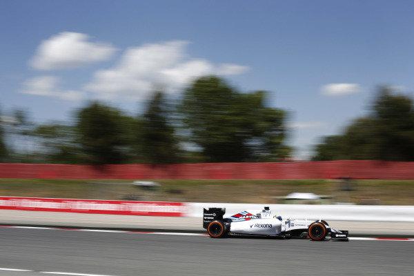 Circuit de Catalunya, Barcelona, Spain. Friday 8 May 2015. Felipe Massa, Williams FW37 Mercedes. World Copyright: Steven Tee/LAT Photographic. ref: Digital Image _X0W5065