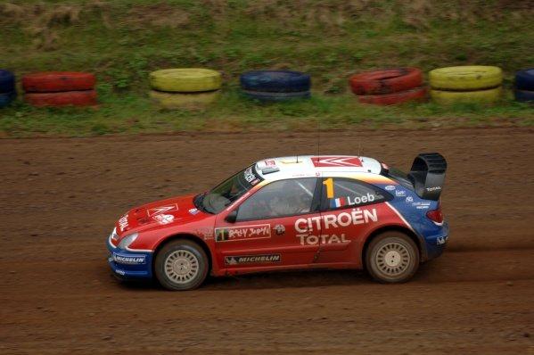 2005 FIA World Rally Championship,  Rally Japan, September 29 - October 2, 2005. Obihiro, Japan. Leg 2. Sebastien Loeb (FRA) on stage 13. Digital Image